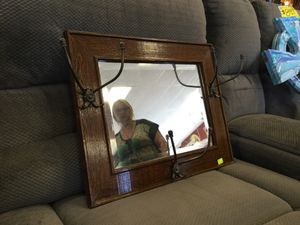 Antique mirror with coat hanger for Sale in Portland, OR