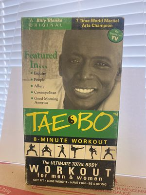 Tae Bo 8 Minute Workout 🏋️♂️ VHS 📼 Vintage for Sale in Albuquerque, NM