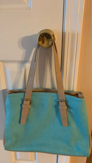 Blue/Tan charming Charlie purse for Sale in Milton, FL