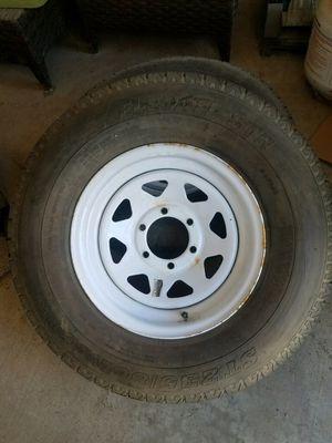 4 Trailer tires 6 lug 90% 235/80R16 for Sale in Fresno, CA