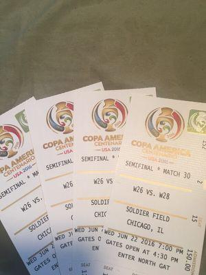4 tickets Colombia vs Chile for Sale in Chicago, IL