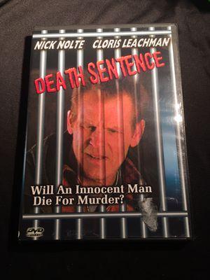 Death Sentence Nick Nolte Cloris Leachman DVD Used Condition for Sale in La Habra, CA