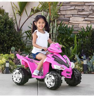 Kiddie 4 Wheeler. Best Choice Products 12V Kids Battery Powered Electric 4-Wheeler Quad Atv Ride On Toy W/ 2 Speeds, Led Lights - Pink for Sale in Charlotte, NC