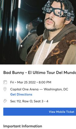 Bad Bunny Tickets for Sale in Washington, DC