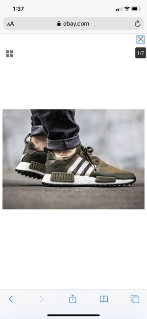 ADIDAS WM NMD TRAIL PK WHITE MOUNTAINEERING TRACE OLIVE WHITE ARMY CAMO CG3647 11.5 for Sale in Detroit, MI