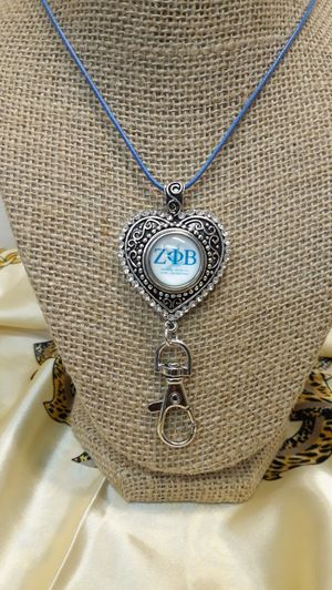 Zeta Phi Beta Necklace with Badge Holder ( SHIPPING ONLY) for Sale in Jacksonville, FL