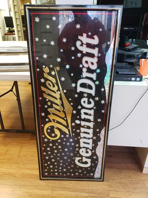 Miller bar sign for Sale in Springfield, VA