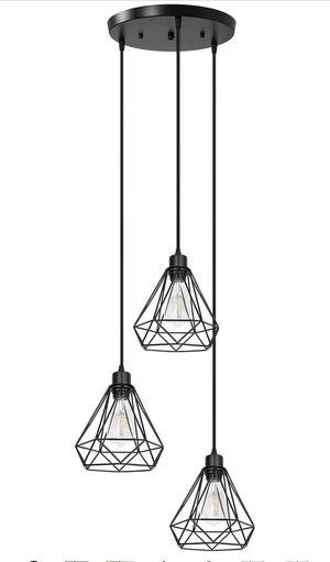 Black 3-Light Pendant Lighting for Sale in La Habra, CA