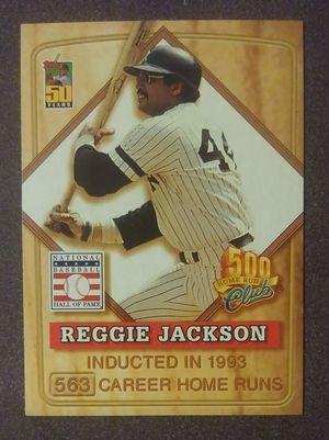 2001 Topps Reggie Jackson Post Cereal 500 Club HOF #8 New York Yankees N.Y. Baseball Card Collectible Vintage MLB for Sale in Salem, OH