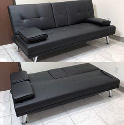 $190 New In Box Convertible Folding Futon Sofa Bed Recliner Couch 65x30x31 Inches, Max 500 Lbs for Sale in East Los Angeles,  CA