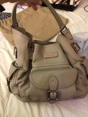 Large heavy leather grey handbag for Sale in Las Vegas, NV