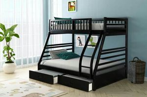 Black Twin Over Full Bunk Bed with Storage Drawers | HH22 for Sale in Austin, TX