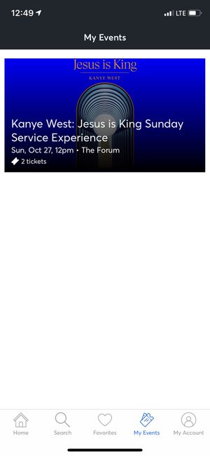 Kanye West Jesus Is King Sunday Service Experience at the Forum Los Angeles for Sale in El Segundo, CA