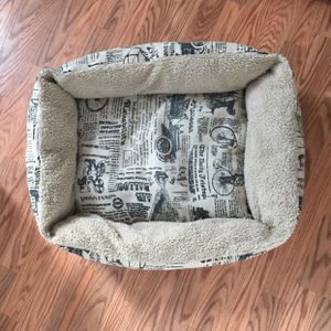 """$10. (PAWS & PALS) 95% Like New Large 29""""Lx20""""w x5.5""""H Inches Pet Bed For Dog Cat Vintage Newspaper For Crate Kennel Home Travel for Sale in Daly City, CA"""