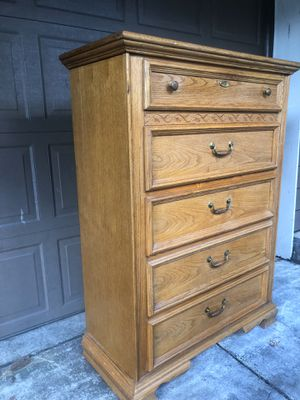 Five Drawer Solid Wood Stanley Dresser / Chest for Sale in Clackamas, OR