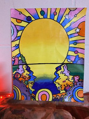 Trippy sunset poster for Sale in OH, US