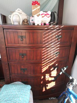 Tall dresser/ solid wood/ no scratches for Sale in Highland, CA