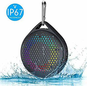 AVWOO IP67 Waterproof Bluetooth Shower Speaker with Enhanced Bass and Lights takes TF Cards for Sale in Palatine, IL