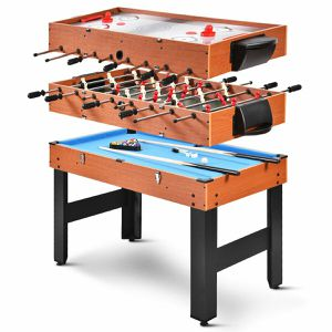 A22-19- 48'' 3-In-1 Multi Combo Game Table Foosball Soccer Billiards Pool Hockey For Kids for Sale in City of Industry, CA
