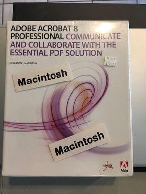 Adobe Acrobat 8 Professional for Macintosh for Sale in Visalia, CA