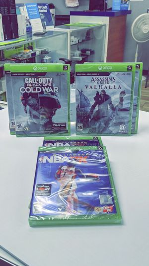 NBA 2K21 / COD: Black Ops Cold War / Assassin Creed Valhalla - Brand New in Box! Xbox Series X | S for Sale in Arlington, TX
