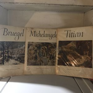 AN ABRAMS ART BOOKS COPY RIGHT 1954/55. Michel Angelo, Bruegel And Titan for Sale in Chicago, IL