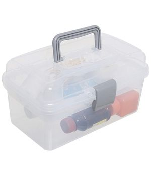 Clear storage containers with removable tray for Sale in Kennesaw, GA