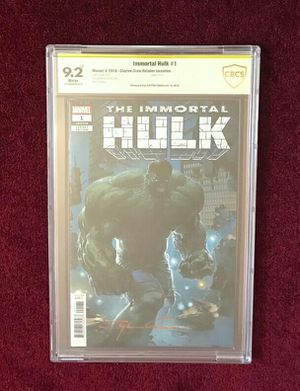 Immortal Hulk 1 signed and graded comic book for Sale in Fort Washington, MD