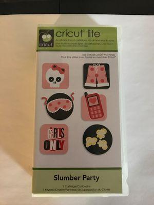 Cricut Cartridge- Slumber Party for Sale in Wallingford, CT