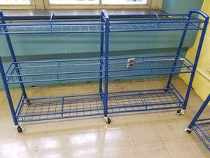 Like New Bookshelves Blue Metal for Sale in Philadelphia, PA