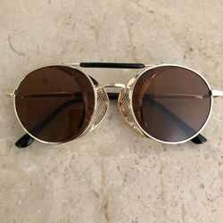 New Gold Round Metal Frame Sunglasses for Sale in Fort Washington,  MD