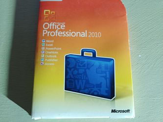 Microsoft office professional 2010 (promotional) for Sale in Houston,  TX