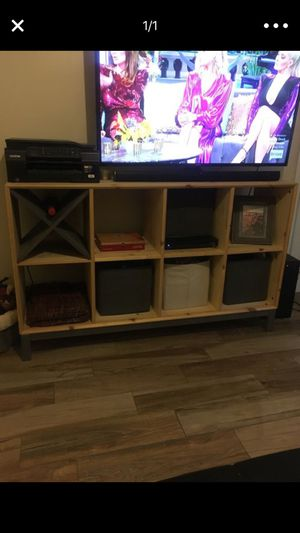 Tv stand dresser with cubbie holders and wine divider for Sale in Tampa, FL