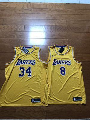 Brand new la Lakers Kobe #8 & Shaq Basketball Jerseys Nike Heat Pressed for Sale in Huntington Beach, CA