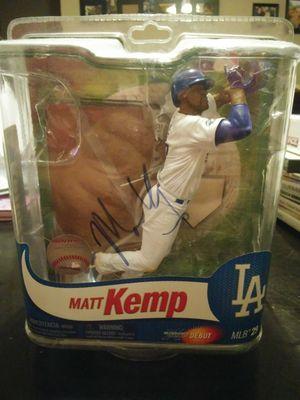 L.A Dogers Matt Kemp Autographed Figure for Sale in Maricopa, AZ