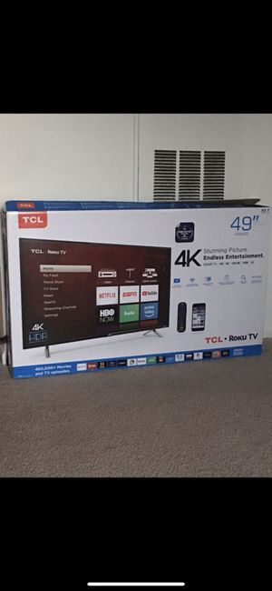 Brand new open box TCL 49inch 4K UltraHD Roku Smart TV *2019 Model* for Sale in Ashburn, VA
