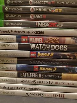 Xbox One 360 GAME LOT - $10 Each - 5 For $40 - All For $90 for Sale in Newport Beach,  CA