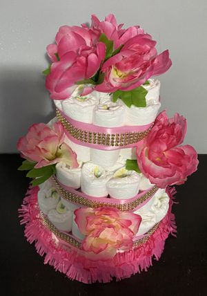 Pink diaper cake for Sale in Falls Church, VA