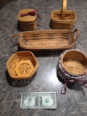 Lot of 5 Longaberger Baskets for Sale in Tacoma, WA