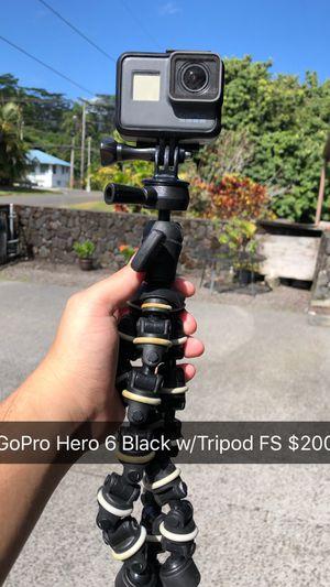 GoPro Hero 6 Black w/tripod for Sale in Hilo, HI