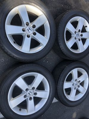 Rims tires 16 5x114.3 fit Honda Civic acord for Sale in Santa Ana, CA