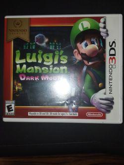 Luigis Mansion Dark Moon Nintendo 3DS for Sale in Philadelphia,  PA