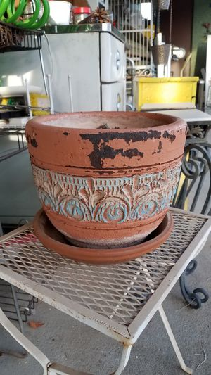 Shabby Terracotta Flower Pot for Sale in Peoria, AZ