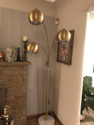 Triple globe brass floor lamp for Sale in Edgewood, WA