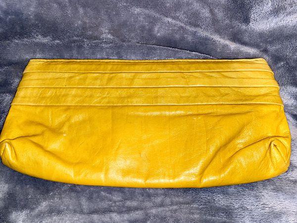Lauren Merkin Yellow Clutch Purse