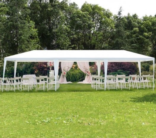 NEW White Canopy Vip Party Tent Gazebo Outdoor Patio Table Artist Shade Up Car Pass Swimming Pool EZ bbq Coachella Cover Umbrella Band Shed Shelter
