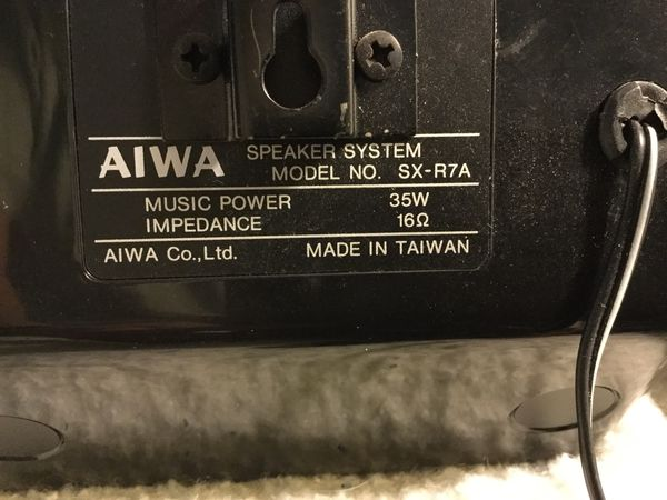 Aiwa Speakers, powerful SX R7A 2 great surround or just stereo speakers like new