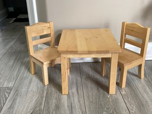 """Guidecraft 18"""" American Girl Doll Size Table and Chair Set for Sale in Ontarioville, IL"""