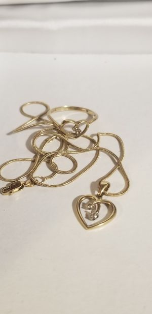 GOLD CHAIN WITH RING for Sale in Fairfax, VA