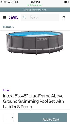 """Intex 15' x 48"""" Ultra Frame Above Ground Pool with Filter Pump for Sale in Rockville, MD"""